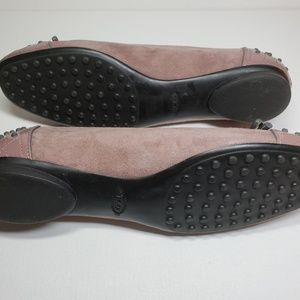 Tod's Shoes - Tod's Lilac Suede & Patent Leather Ballet Flat